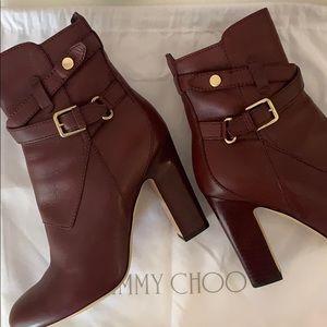 Jimmy Choo Burgundy Boots